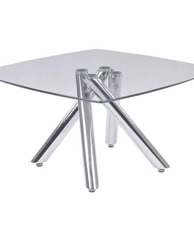 Xora KONFERENČNÍ STOLEK, barvy chromu, kov, sklo, 80/80/45 cm - barvy chromu