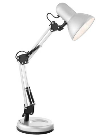 Xora LAMPA NA PSACÍ STŮL, E27, 40/15/59 cm - barvy stříbra