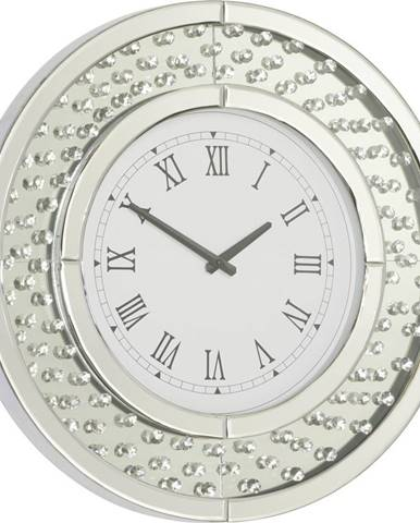 Xora NÁSTĚNNÉ HODINY, barvy stříbra, 50/50/4,5 cm - barvy stříbra