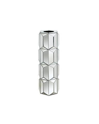 Ambia Home VÁZA, sklo, kompozitní dřevo, 60 cm - barvy stříbra