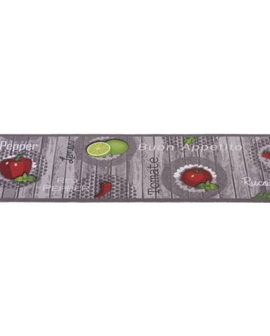 Esposa KOBEREC DO KUCHYNĚ, 45/150 cm, šedá, zelená, červená - šedá, zelená, červená