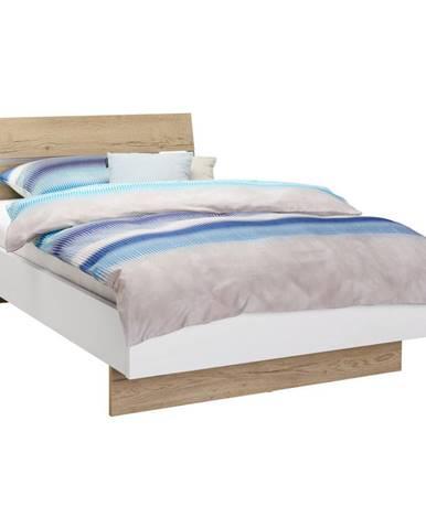 Hom`in POSTEL, 120/200 cm, kompozitní dřevo, bílá, barvy dubu - bílá, barvy dubu