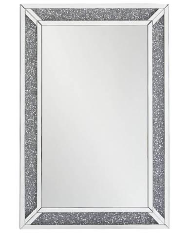 Xora NÁSTĚNNÉ ZRCADLO, 80/120/4 cm - barvy stříbra