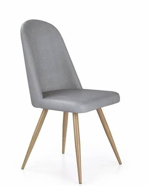 Halmar Halmar Jídelní židle K214, šedá/medový dub