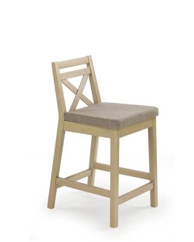 Halmar Barová židle BORYS LOW, dub sonoma/INARI 23