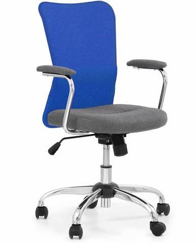 Halmar Dětská síťovaná židle Andy, šedá/modrá