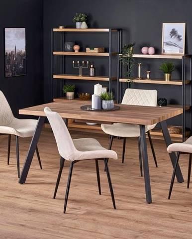 Halmar Jídelní stůl BERLIN, medový ořech/černý