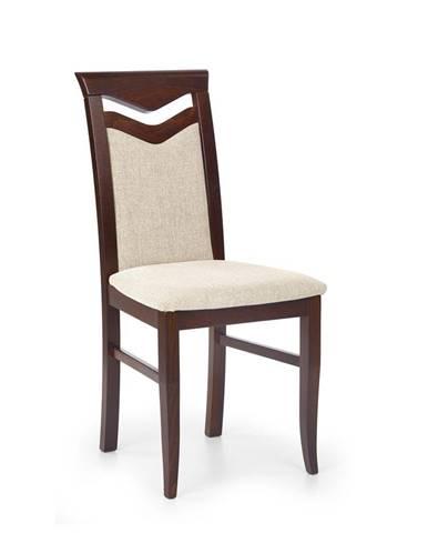 Halmar Jídelní židle Citrone, ořech/krémová