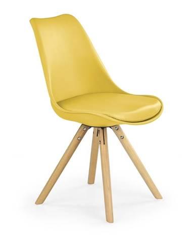 Halmar Jídelní židle K201, žlutá