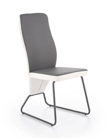 Halmar Jídelní židle K300, šedá/černá
