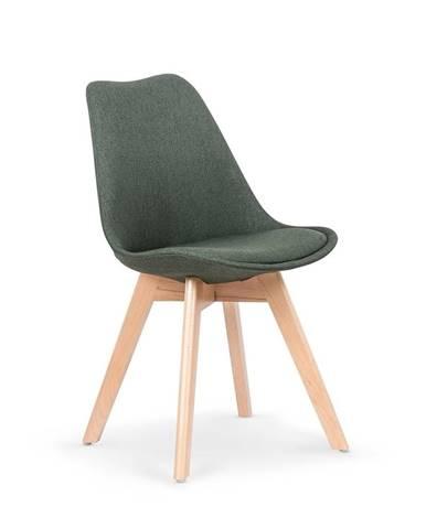Halmar Jídelní židle K303, tmavě zelená