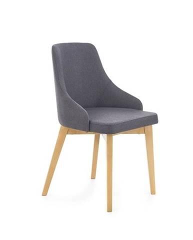 Halmar Jídelní židle Toledo, medový dub/tmavě šedá