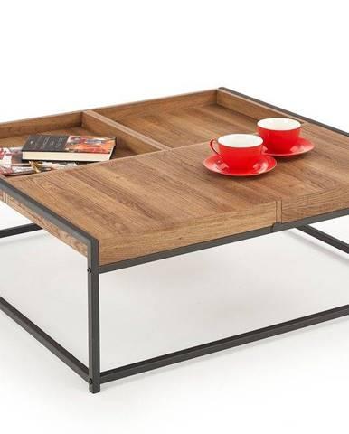 Halmar Konferenční stolek Fregata, medový ořech/černý