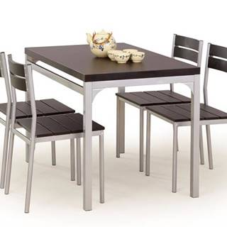 Halmar Jídelní sestava Malcolm + 4 židle, wenge