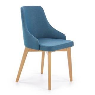 Halmar Jídelní židle Toledo, medový dub/modrá