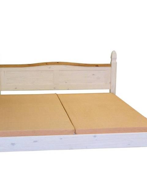 IDEA Nábytek Dvoulůžko CORONA bílý vosk 140x200