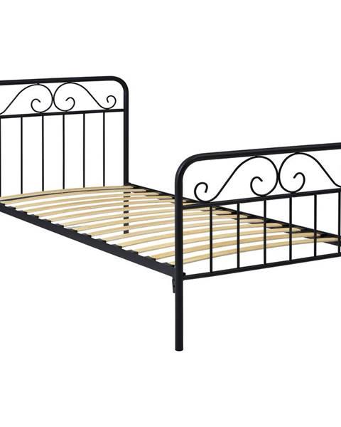 IDEA Nábytek Kovová postel LEON 120x200 černá