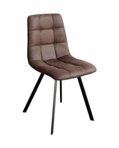 Jídelní židle BERGEN hnědé mikrovlákno