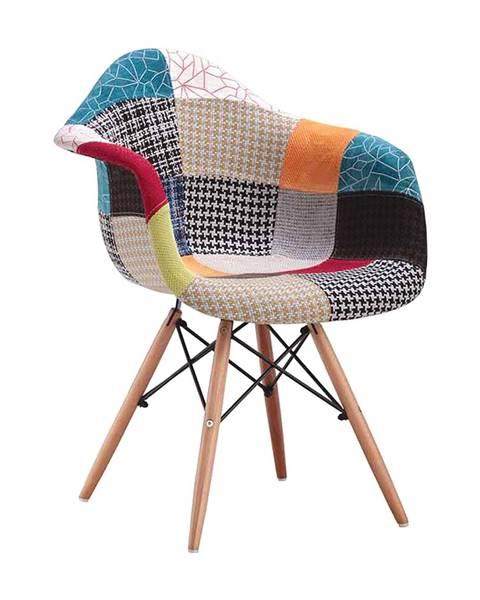 IDEA Nábytek Jídelní židle DUO patchwork barevná