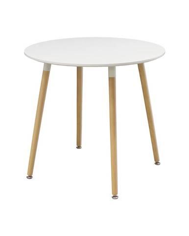 Jídelní stůl průměr 80 UNO bílý