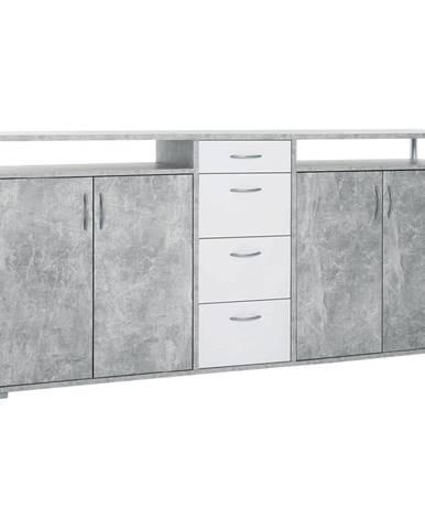 Komoda MAXIMO beton/bílá