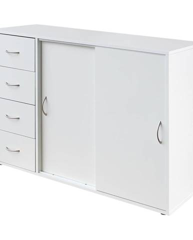 Prádelník 4 zásuvky + 2 dveře 1503 bílý