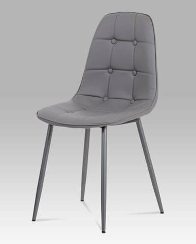 Jídelní židle CT-393 GREY, šedá/antracit
