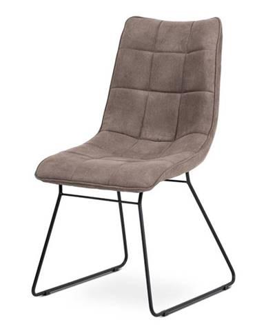 Jídelní židle DCH-414 LAN3, lanýžová látka/černý kov