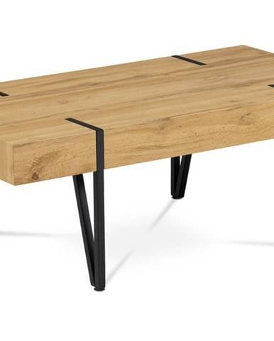 Konferenční stolek AHG-233 OAK, dub divoký/černý kov