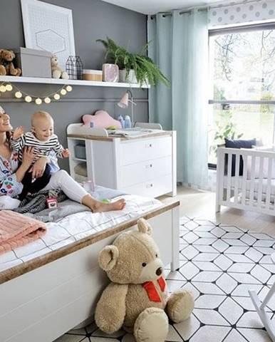 DREVISO BABY - vzorová sestava, bílá/dub westminster