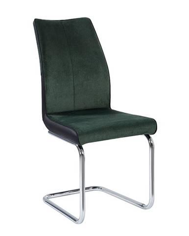 Jídelní židle FARULA, smaragd/černá