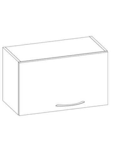 LARISA horní skříňka nad digestoř G60OK, korpus dub sonoma tmavý, dvířka dub sonoma světlý