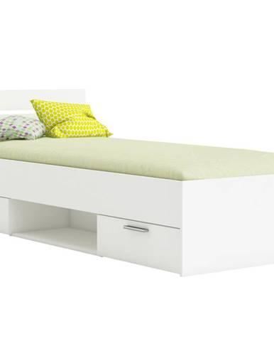 MICHIGAN postel 90x200 cm, bílá