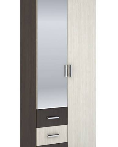 Šatní skříň 2-dveřová ROCHEL 58 cm dub belfort