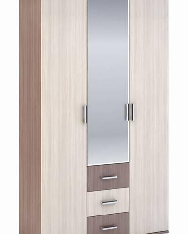 Šatní skříň 3-dveřová ROCHEL 58 cm jasan šimo