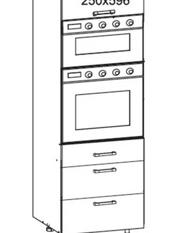 SOLE vysoká skříň DPS60/207 SMARTBOX O, korpus šedá grenola, dvířka bílý lesk