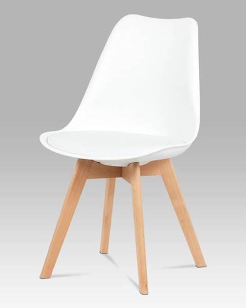 Smartshop Jídelní židle CT-752 WT, bílá / masiv buk