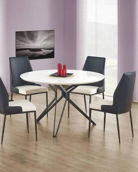 Smartshop Kulatý jídelní stůl PIXEL, bílá/černá