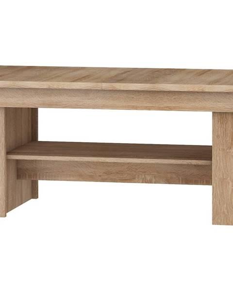 MORAVIA FLAT Rozkládací konferenční stolek R MAXIMUS 17, dub sonoma/bílý lesk