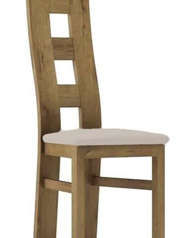 Čalouněná židle TADEÁŠ, dub stirling/Victoria 20