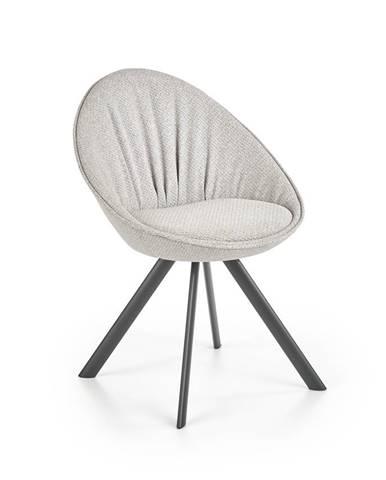 Jídelní židle K-358, světle šedá