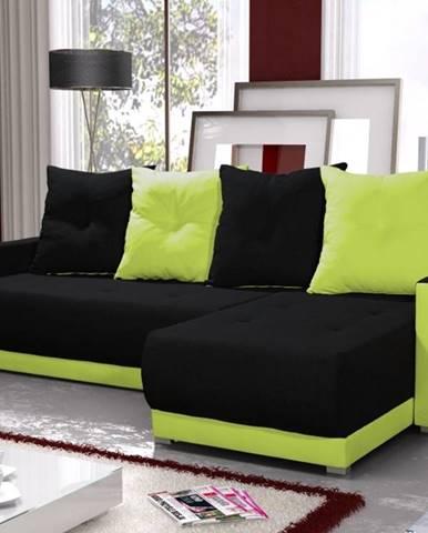 Rohová sedačka INSIGNIA BIS 3, černá/zelená