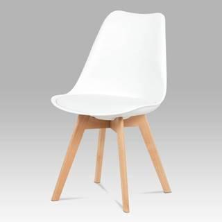 Jídelní židle CT-752 WT, bílá / masiv buk