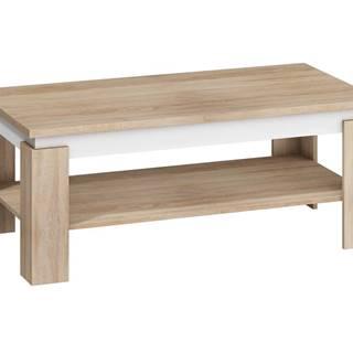 Konferenční stolek BETA, dub sonoma sv./bílý lesk