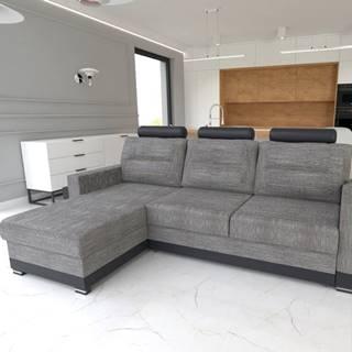 Rohová sedačka COVER, levá, šedá/černá