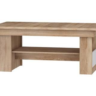 Rozkládací konferenční stolek R MAXIMUS 17, dub sonoma/bílý lesk