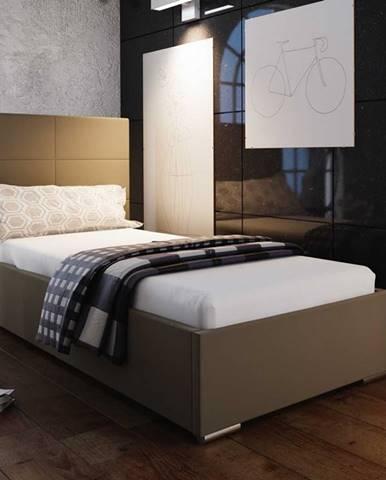 Čalouněná postel SOFIE 4 80X200 cm, hnědá látka