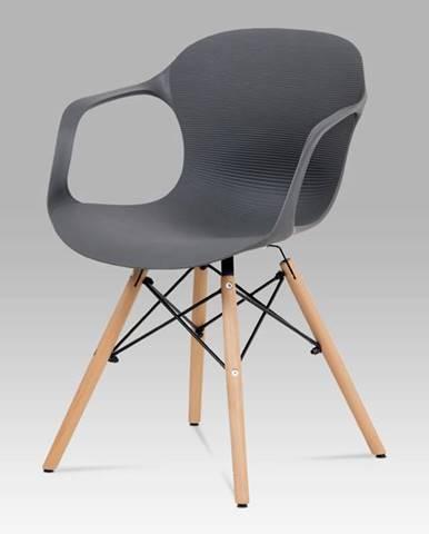 Jídelní židle ALBINA GREY, šedá/hnědá