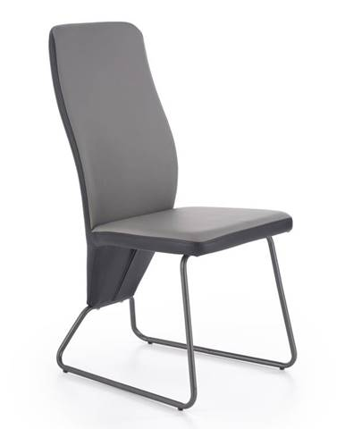 Jídelní židle K-300, šedá/černá