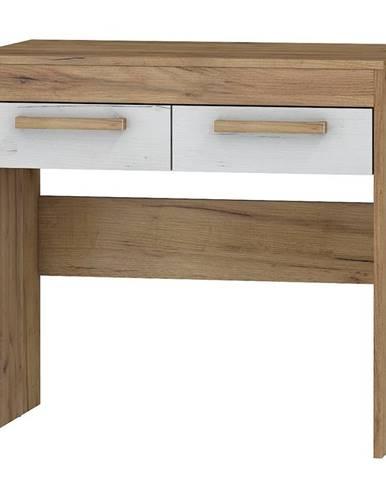 Toaletní stolek MAXIMUS 42, craft zlatý/craft bílý